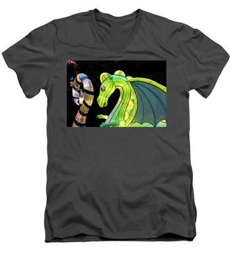 Little Dragon Men's V-Neck T-Shirt