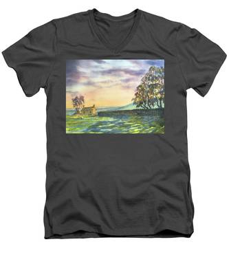 Long Shadows At Sunset Men's V-Neck T-Shirt