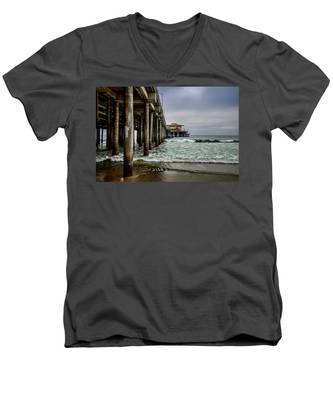 Mariasol On The Pier 2 Men's V-Neck T-Shirt