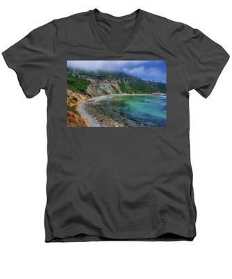 Marine Layer Over Bluff Cove Men's V-Neck T-Shirt