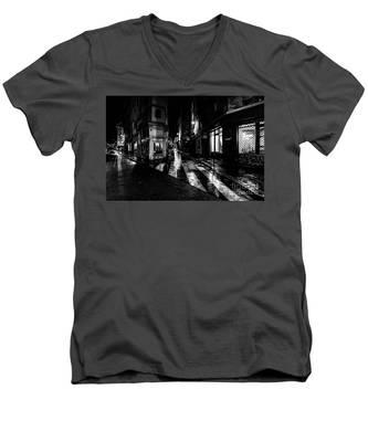 Paris At Night - Rue De Seine Men's V-Neck T-Shirt