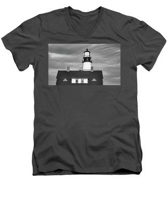 Men's V-Neck T-Shirt featuring the photograph Portland Head Light  by Kyle Lee