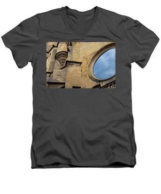 Reflection, Sarlat, France Men's V-Neck T-Shirt