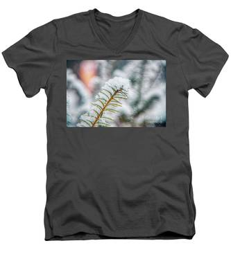 Snow Needle Men's V-Neck T-Shirt