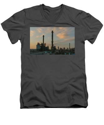 Stacks Men's V-Neck T-Shirt by Joseph Amaral