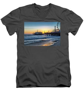 Sunset Under The Pier Men's V-Neck T-Shirt