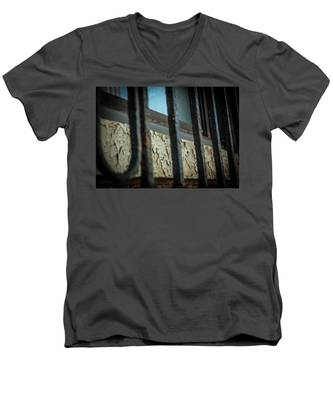 The Texture Of Time Men's V-Neck T-Shirt