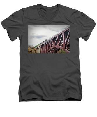 Train Over Letchworth Men's V-Neck T-Shirt