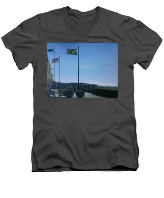 Viewing Circle At Grand Ave Park Men's V-Neck T-Shirt