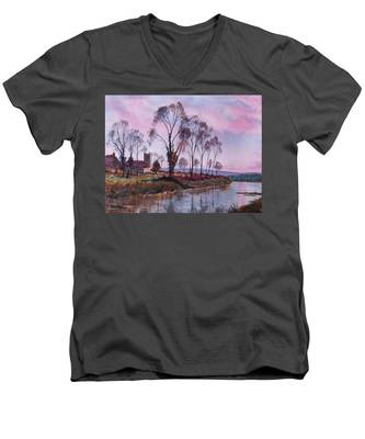 Waiting For Sunset Men's V-Neck T-Shirt