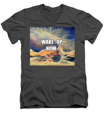 Wake. Up. Now. Men's V-Neck T-Shirt