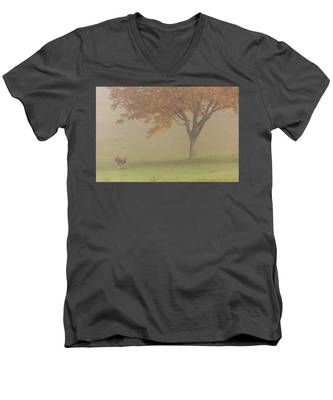Walnut Farmer, Beynac, France Men's V-Neck T-Shirt