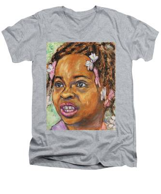 Girl With Dread Locks Men's V-Neck T-Shirt