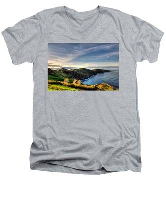 Men's V-Neck T-Shirt featuring the photograph Azores Landscapes by Joseph Amaral