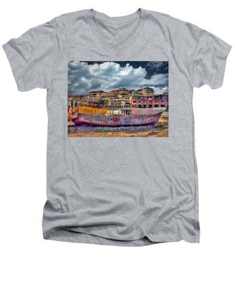 A Genesis Sunrise Over The Old City Men's V-Neck T-Shirt