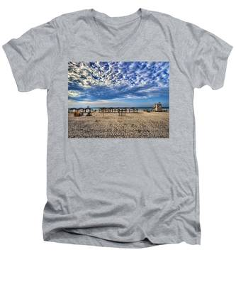 a good morning from Jerusalem beach  Men's V-Neck T-Shirt