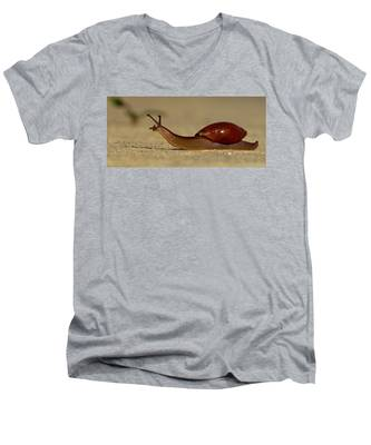 A Snails Pace Men's V-Neck T-Shirt