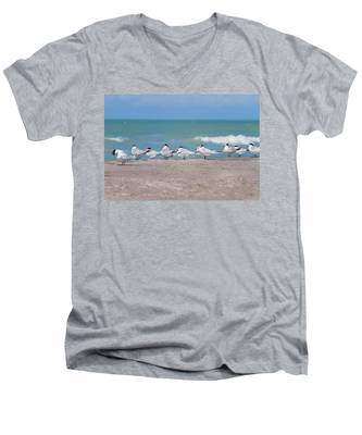 All In A Row Men's V-Neck T-Shirt