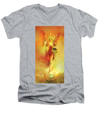 Angel Of Abundance - Fortuna Men's V-Neck T-Shirt