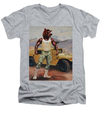 Arkansas Soldier Men's V-Neck T-Shirt