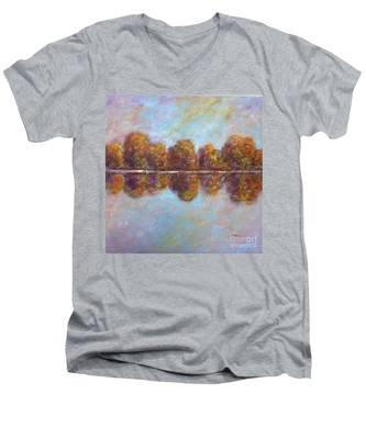Autumnal Atmosphere Men's V-Neck T-Shirt