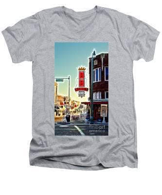 Bb King Club Men's V-Neck T-Shirt