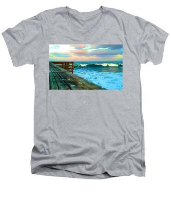 Beauty Of The Pier Men's V-Neck T-Shirt