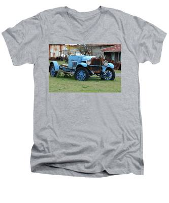 Blue Chevy  Men's V-Neck T-Shirt