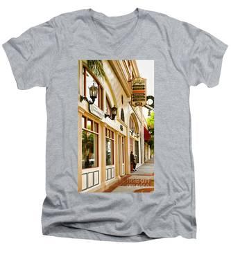 Brown Bros Building Men's V-Neck T-Shirt
