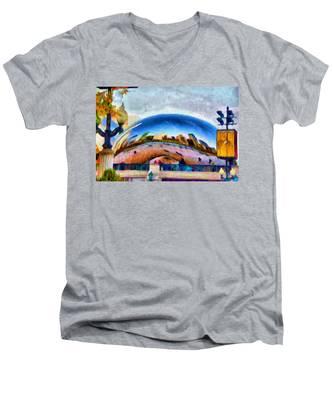Chicago Reflected Men's V-Neck T-Shirt