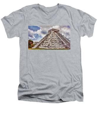 Chichen Itza Men's V-Neck T-Shirt
