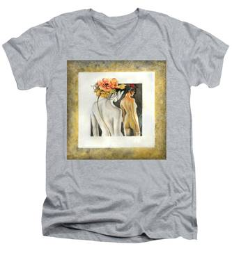 Crossing To The Another Side Of The  Shadow Men's V-Neck T-Shirt