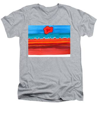 Desert Cities Original Painting Sold Men's V-Neck T-Shirt