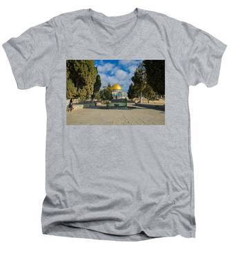 Dome Of The Rock Men's V-Neck T-Shirt