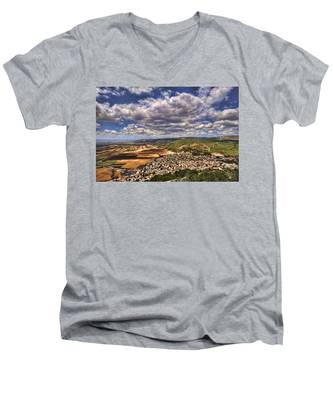 Emek Israel Men's V-Neck T-Shirt