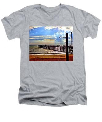 Flagler Pier Heaven Men's V-Neck T-Shirt