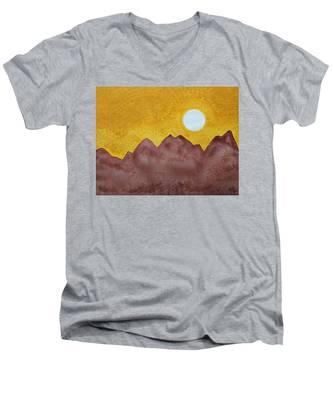 Gallup Original Painting Men's V-Neck T-Shirt
