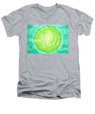 Green World Original Painting Men's V-Neck T-Shirt