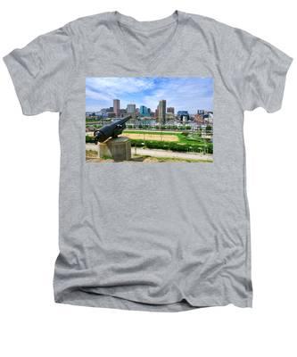 Guarding Baltimore Men's V-Neck T-Shirt