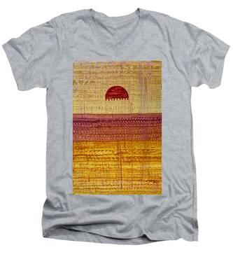 High Desert Horizon Original Painting Men's V-Neck T-Shirt