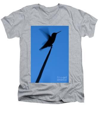 Hummingbird Silhouette Men's V-Neck T-Shirt