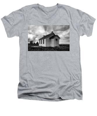 Icarian Schoolhouse Men's V-Neck T-Shirt