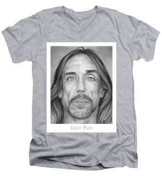 Iggy Pop Men's V-Neck T-Shirt