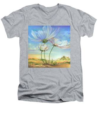 In The Half-shadow Of Wild Flowers Men's V-Neck T-Shirt