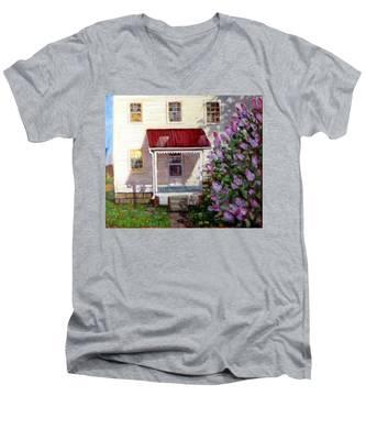 La027 Men's V-Neck T-Shirt