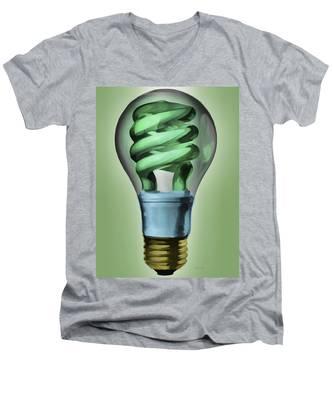 Light Bulb Men's V-Neck T-Shirt