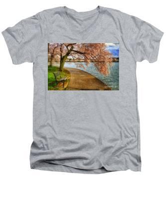 Meet Me At Our Bench Men's V-Neck T-Shirt