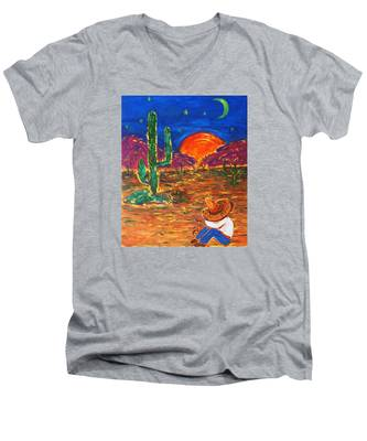 Mexico Impression IIi Men's V-Neck T-Shirt