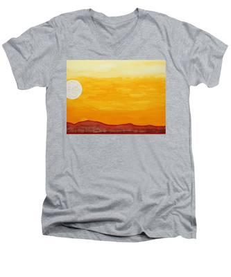 Moonshine Original Painting Sold Men's V-Neck T-Shirt