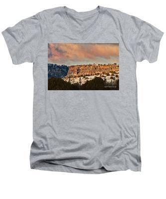 Morning Sun On The Ridge Men's V-Neck T-Shirt